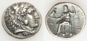MACEDONIAN KINGDOM. Philip III Arrhidaeus (323-317 BC). AR tetradrachm (26mm, 16.81 gm, 11h). Lifetime issue of Sidon, under Ptolemy I Soter as Satrap...