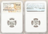 MACEDONIAN KINGDOM. Philip III Arrhidaeus (323-317 BC). AR drachm (16mm, 11h). NGC Choice XF. Colophon, ca. 323-319 BC. Head of Heracles right, wearin...
