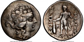 THRACIAN ISLANDS. Thasos. Ca. 2nd-1st centuries BC. AR tetradrachm (31mm, 12h). NGC Fine. Ca. 148-90/80 BC. Head of Dionysus right, crowned with ivy, ...