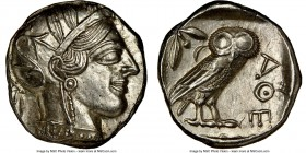 ATTICA. Athens. Ca. 440-404 BC. AR tetradrachm (25mm, 17.20 gm, 7h). NGC MS 5/5 - 4/5, brushed. Mid-mass coinage issue. Head of Athena right, wearing ...