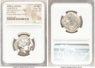 ATTICA. Athens. Ca. 440-404 BC. AR tetradrachm (26mm, 17.18 gm, 4h). NGC Choice AU 5/5 - 4/5. Mid-mass coinage issue. Head of Athena right, wearing cr...