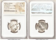 ATTICA. Athens. Ca. 440-404 BC. AR tetradrachm (25mm, 17.20 gm, 10h). NGC Choice AU 5/5 - 4/5. Mid-mass coinage issue. Head of Athena right, wearing c...