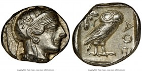 ATTICA. Athens. Ca. 440-404 BC. AR tetradrachm (26mm, 17.17 gm, 7h). NGC Choice AU 5/5 - 4/5, brushed. Mid-mass coinage issue. Head of Athena right, w...