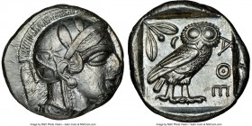 ATTICA. Athens. Ca. 440-404 BC. AR tetradrachm (24mm, 17.20 gm, 5h). NGC Choice AU 4/5 - 4/5. Mid-mass coinage issue. Head of Athena right, wearing cr...