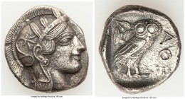 ATTICA. Athens. Ca. 440-404 BC. AR tetradrachm (25mm, 16.19 gm, 1h). Choice XF, porosity. Mid-mass coinage issue. Head of Athena right, wearing creste...