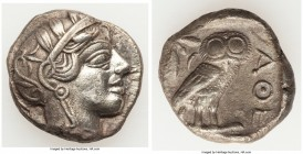 ATTICA. Athens. Ca. 440-404 BC. AR tetradrachm (25mm, 16.64 gm, 9h). XF, brushed. Mid-mass coinage issue. Head of Athena right, wearing crested Attic ...
