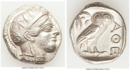 ATTICA. Athens. Ca. 440-404 BC. AR tetradrachm (26mm, 17.14 gm, 7h). XF, porosity. Mid-mass coinage issue. Head of Athena right, wearing crested Attic...
