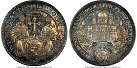 Salzburg. Paris von Lodron Restrike Taler 1628-Dated (1928) MS64 NGC, KM110. Colorfully toned and demonstrating sparkling reflectivity throughout.   H...