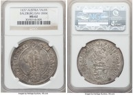 Salzburg. Paris von Lodron Taler 1637 MS62 NGC, KM87, Dav-3504. Lightly toned in silver and marked by an abundance of mint luster evident underneath. ...