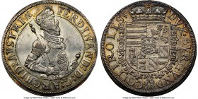 Archduke Ferdinand Taler ND (1564-1595) UNC Details (Reverse Damage) NGC, Hall mint, Dav-8094. An exceedingly choice representative of the type to be ...
