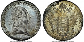 Franz II (I) Taler 1820-A MS63 NGC, Vienna mint, KM2162. Exceedingly fresh to say the least, and a coin which almost immediately surpasses the upper b...