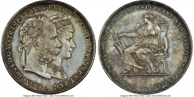 Franz Joseph I 2 Florin 1879 MS64 NGC, Vienna mint, KM-XM5. Struck in celebration of the royal couple's silver wedding anniversary. Essentially gem fr...