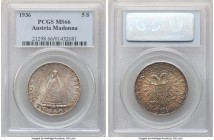 Republic 5 Schilling 1936 MS66 PCGS, KM2853. Brilliant, with obverse opalescent tone and a reverse decorated in sunset red and gold.   HID09801242017 ...