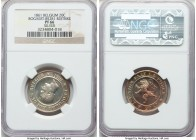 Leopold I silver Proof Restrike 20 Centimes 1861 PR66 NGC, Bogaert-852B1. Plain edge. Exhibiting gorgeous rainbow tones on the reverse that fully capt...