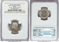 Leopold I silver Proof Restrike Franc 1833 PR67 NGC, Bogaert-29B2. Reeded edge. A pearly white offering that could nearly be seen in a higher grade. A...