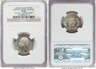 Leopold I silver Proof Restrike Franc 1849 PR66 NGC, Bogaert-421B1. Reeded edge. Sparkling gem quality is evident throughout the entirety of this offe...
