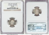 Leopold II silver Proof Restrike 50 Centimes 1866 PR66 NGC, Bogaert-1047B3. Reeded edge. Flemish legends. The sole example of this quite rare issue we...