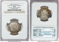 Leopold II silver Proof Restrike 2 Francs 1880 PR67 NGC, Bogaert-1218B2. Reeded edge. Only the second example we have been able to locate becoming ava...
