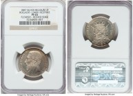 "Leopold II silver Proof Restrike 2 Francs 1887 PR65 NGC, Bogaert-1246B1. Reeded edge. Flemish legends. Only the second example of this very rare ""Prin..."