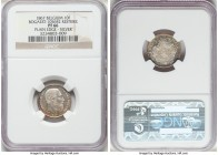 Leopold II silver Proof Restrike 10 Francs 1867 PR66 NGC, Bogaert-1056B2. Plain edge. Pearly white with only the lightest tinges of tone. While the mi...