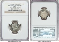 Leopold II silver Proof Restrike 20 Francs 1870 PR67 NGC, Bogaert-1112B1. Plain edge. Nearly cameoed on the reverse with frosty devices. While the min...