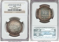 Albert I silver Proof Restrike 10 Francs 1930 PR67 NGC, Bogaert-2366B1. Plain edge. French legends. The first example of the type we have handled, and...