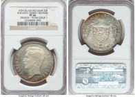 Albert I silver Proof Restrike 20 Francs 1934 PR66 NGC, Bogaert-2506B1. Plain edge. French legends. Virtually immaculate and highly appealing as a typ...