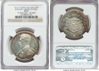 Albert I silver Proof Restrike 100 Francs 1911 PR67 NGC, Bogaert-1805B5. Plain edge. An issue that comes profuse with die polish lines and which appea...
