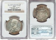 Albert I silver Proof Restrike 100 Francs 1911 PR66 NGC, Bogaert-1805B2. Plain edge. Seemingly conservatively graded with hardly a stray mark to be fo...