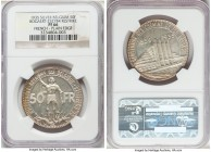 Leopold III silver Proof Restrike 50 Francs 1935 PR66 NGC, Bogaert-2527B4. Plain edge. French legends. Very nearly blemish-free, and a somewhat more d...