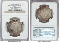 Leopold III silver Proof Restrike 50 Francs 1940 PR63 NGC, Bogaert-2656B6. Plain edge. Conveying a splendid cabinet patina with few instances of handl...