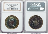 Elizabeth II Specimen Dollar 1971 SP68 NGC, Royal Canadian mint, KM79. Struck for the centennial of British Columbia and extremely beautiful for this ...