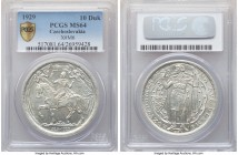 Republic silver Medallic 10 Dukaten 1929 MS64 PCGS, KM-XM6. Mintage: 3,259. Struck for the millennium of Christianity in Bohemia. Slightly glossy and ...
