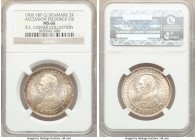 Frederick VIII 2 Kroner 1906 (h)-VBP MS66 NGC, Copenhagen mint, KM803. Commemorating the death of Christian IX and the accession of Frederik VIII. Lus...