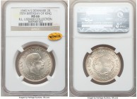 Christian X 2 Kroner 1945-N(h)S MS66 NGC, Copenhagen mint, KM836. Struck in celebration of the King's 75th birthday. Ex. R.L. Lissner Collection  HID0...