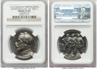 "Bavaria. Ludwig III silver Proof ""Propaganda"" Medal 1915 PR64 NGC, Zetzmann-2147. 34mm. Struck to high relief, with gunmetal gray surfaces revealing a..."