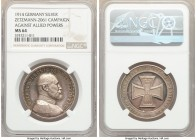 "Württemberg. Wilhelm II silver ""Campaign Against Allied Powers"" Medal 1914 MS64 NGC, Zetzmann-2061. 33.5mm. Displaying inspiring, watery surfaces mark..."