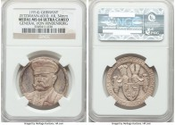 """General von Hindenburg"" silver Medal ND (1914) MS64 Ultra Cameo NGC, Zetzmann-6010. 34mm. Well-preserved, if minorly hazy, and more probably a Proof ..."