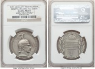 "Wilhem II silver ""Propaganda"" Medal 1914 MS64 NGC, Zetzmann-2005. 33mm. Struck for the outbreak of the First World War. Lightly patinated, with matte ..."