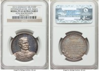 """Von Mackensen"" silver Proof Medal 1915 PR63 Ultra Cameo NGC, Zetzmann-4103. 34mm. Sharp and fully mirrored, the fields revealing an appealing intermi..."