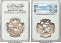 """WW1 Generals"" silver Proof Medal 1917 PR65 Ultra Cameo NGC, Zetzmann-3061. 33mm. A scarce war medal displaying the busts of generals von Below, von H..."
