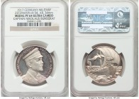 """Captain Nikolaus Burggraf"" silver Proof Medal 1917 PR64 Ultra Cameo NGC, Zetzmann-4154. 34mm. By Wrede & Lauer. Fully struck and graced with a pleasi..."