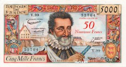 France [#139, XF+] 50 NF/5000 francs Type 1957