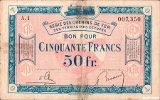 France [#R9, F] 50 francs RCFTO Type 1923