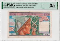 France [#M12, VF+] 1000 francs Trésor Public Type 1955