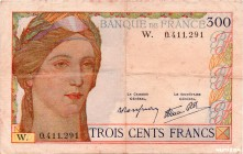 France [#87, VF] 300 francs Type 1938 Cérès