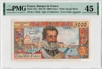 France [#135, XF+] 5000 francs Type 1957 Henri IV