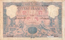 France [#65, F+] 100 francs Type 1888 Bleu et rose