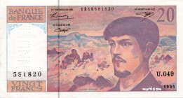 France [#151, GEM] 20 francs Type 1980 Debussy