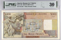 Algeria [#105, VF+] 5000 francs Apollon Type 1946